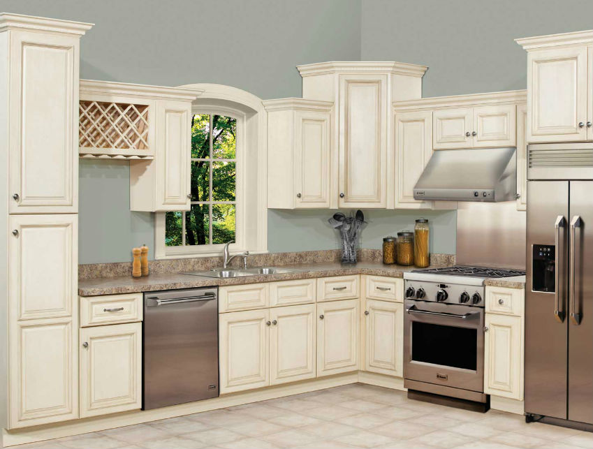 Tuscany White Maple Kitchen Cabinets - Lowest Price Available